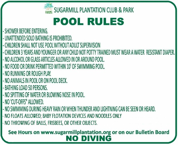 Swimming Pools Rules Creativity
